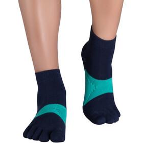 Knitido Marathon TS Running Socks, bleu/vert